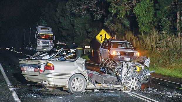 A man was airlifted to hospital in a critical condition after a two-car crash on the Western Port Highway, Langwarrin, on Wednesday night (4 June).