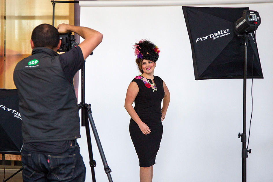 It was all lights, camera, action last week as Mornington Racing Club's Face of Racing Caitrin O'Rourke posed for publicity shots being taken by Sam D'Agostino.