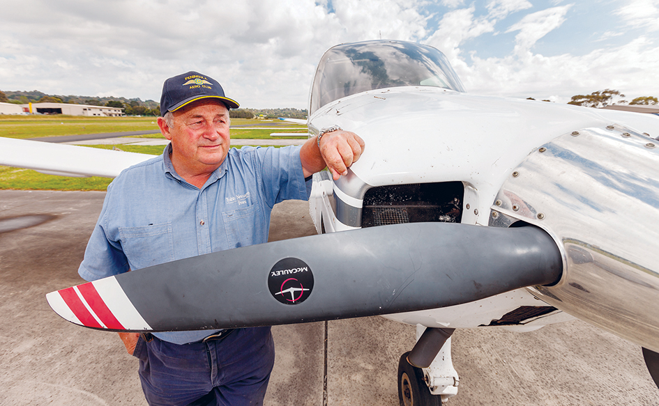 Close call: Peninsula Aero Club president Peter Bernardi says a low-flying pilot should be counselled. Picture: Yanni
