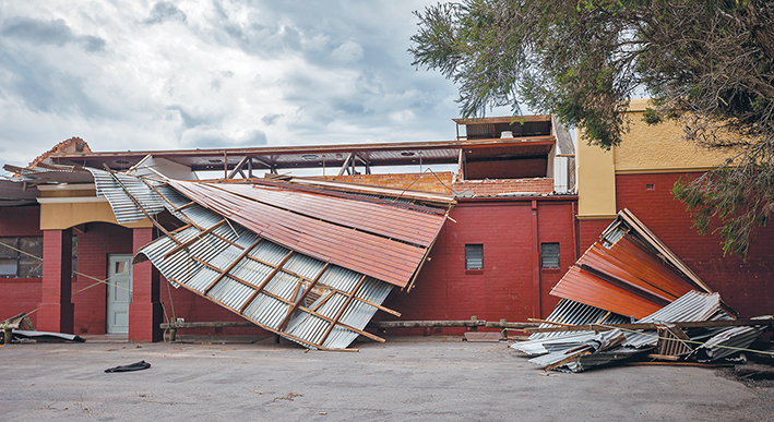 Hall closed: Somerville Mechanics' Hall has been closed following its near demolition in last week's storm.