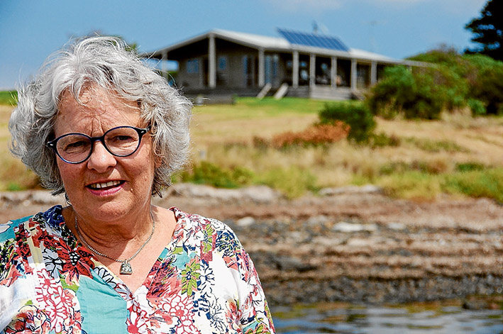 Departure time: Anne Tillig believes it is time to sell up and move on from her idyllic lifestyle at Elizabeth Island, which lies in a sheltered section of Western Port close to French Island. Picture: Keith Platt