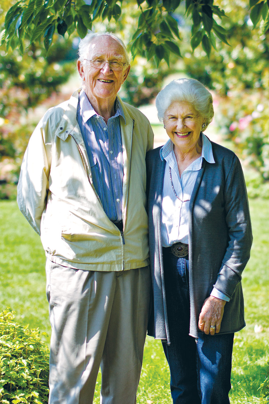 Garden lovers: Tamie and Malcolm Fraser at home at Merricks in 2013. Picture: Yanni