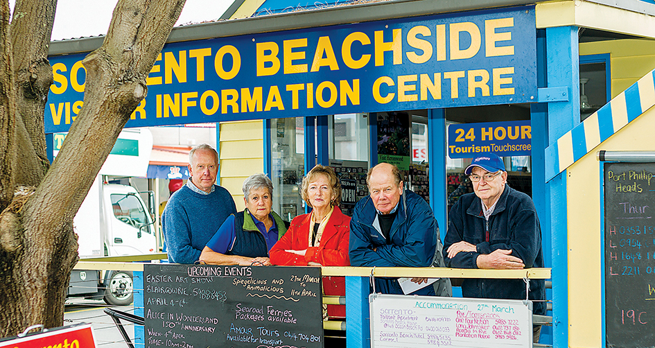 Sorry situation: Committee members of Mornington Peninsula Beachside Tourism Association are unhappy with shire plans to downgrade their tourism office in Sorrento from a shop to a kiosk. Picture: Yanni