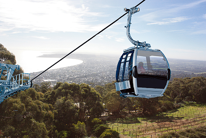 Gondola days: Three parking areas will serve patrons of Arthurs Seat Skylift. The company is banking on about 160,000 people a year using the $18 million ride.