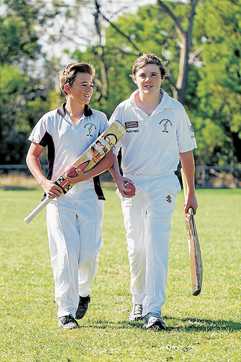 Game plan: Balnarring cricketers Jackson Hannah and Lachlan Barton are off to represent the MPCA in England in June. Picture: Gary Sissons