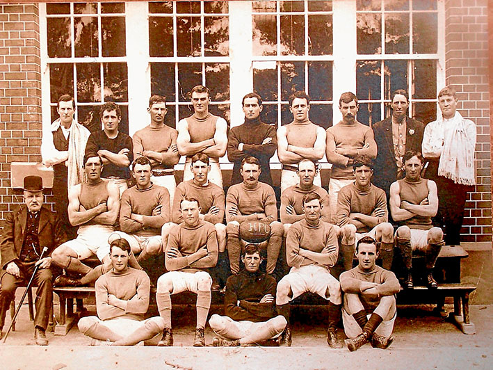 The Best Ever?: Hastings 1913 premiership team with Pompey Francis, Dobbin Reid and Nipper Floyd the first three in centre row.