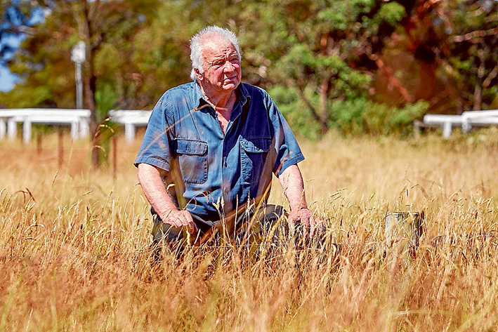Waste watcher: Fred Crump of Mornington. Picture: Gary Sissons
