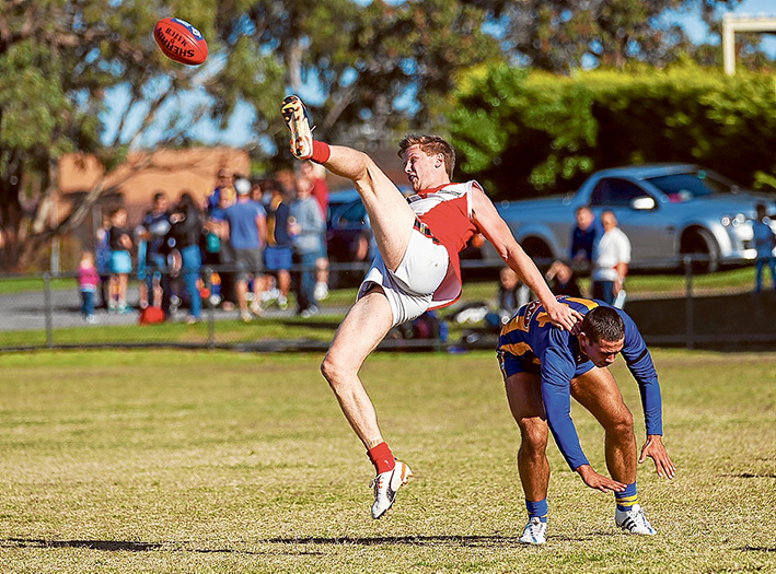 Hill of pain: Somerville fought back to grab the win over Red Hill. Picture: Andrew Hurst