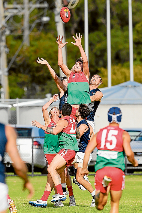 Flying high: Pines grabbed a 15 point victory over Edithvale-Aspendale. Picture: Gary Bradshaw