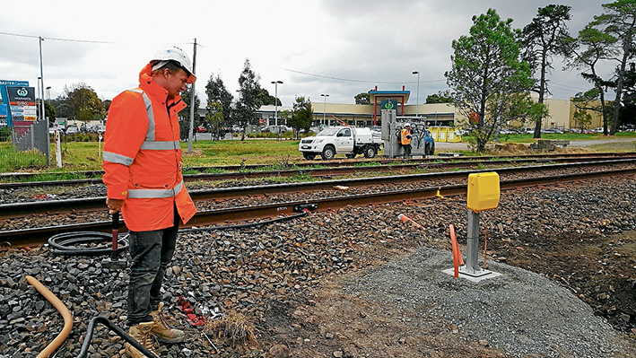 The fix is in: Axle counters are being installed near level crossings along the Stony Point rail line.
