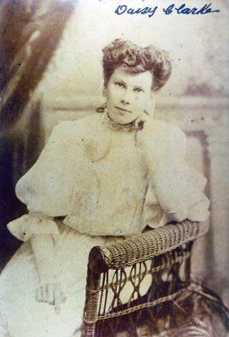 Daisy Clarke (nee Denham). Christmas 1907.
