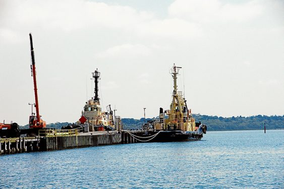 Tied up: Tugs operating out of Stony Point are being required less and less with the dimnishing the number of large ships using the Port of Hastings. Picture: Keith Platt