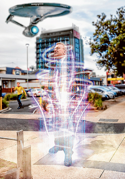 Beam me up, Bruce: Small Business Minister Bruce Billson has taken to selling the small business message in the federal government's budget at warp factor speed. Picture: Yanni
