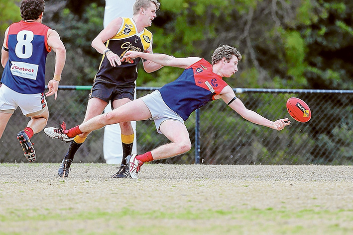 Win out of reach: Mt Eliza went down to Frankston YCW by 32 points. Picture: Gary Bradshaw