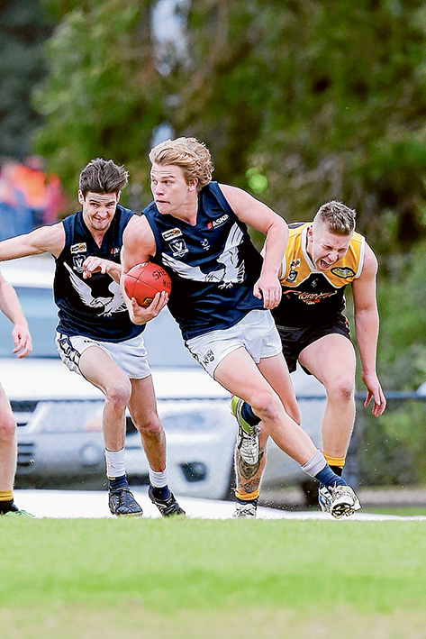 Eagles wings clipped: Frankston YCW beat Edithvale–Aspendale by 62 points. Picture: Gary Bradshaw
