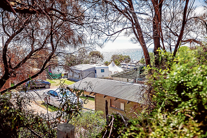 Top spot: Tyrone foreshore camping area near Rye. Picture: Yanni