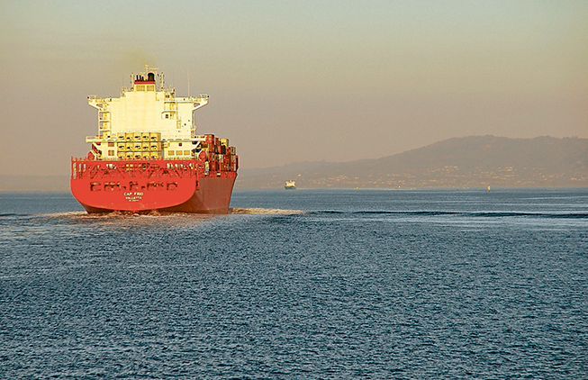 Bon voyage: State government plans look certain to keep container ships heading into the Port of Melbourne rather than to a new terminal at Hastings. Picture: Keith Platt