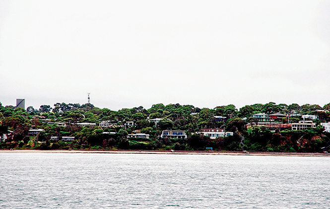 Level threat: Changes will come to low lying beaches like Somers as the waters rise in Western Port, although only those properties close to sea level will face direct damage. Picture: Keith Platt