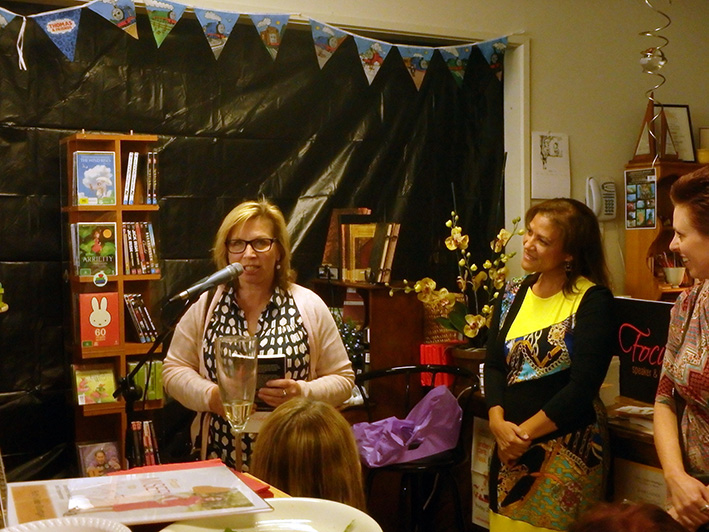 This is a call: Rosie Batty, left, speaks at the launch of Ruth Cyster-Stuettgen's From Misery to Mastery: Journey to Freedom and Empowerment book at Petersen's Bookstore in Hastings last month.