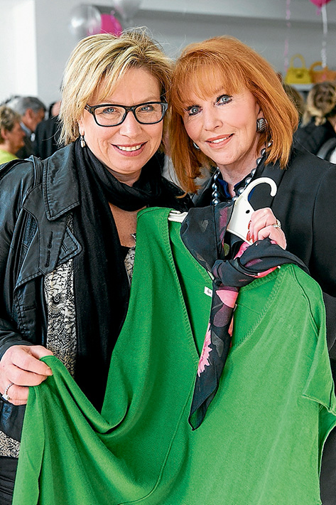 Good cause Anti family violence campaigner Rosie Batty and Clothes4U president Veronica Whittaker at the opening of the Rosebud boutique. Picture: Gary Sissons
