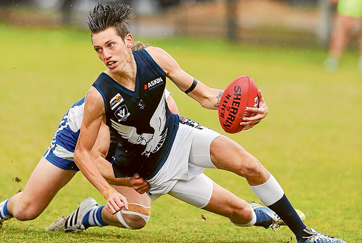 Final blow: Langwarrin's season came to an end at the hands of Edithvale-Aspendale on Saturday. Picture: Gary Bradshaw