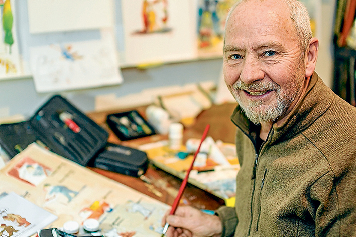 Write on: After taking on many different jobs Michael Leeworthy found his niche as a writer and illustrator. Picture: Yanni