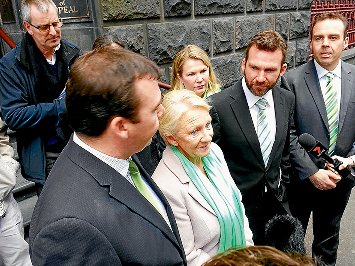 Waiting game: The O'Toole family address the media outside the Court of Appeal. Picture: Cameron McCullough