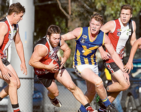 Chase is on: Somerville got up over Devon Meadows in their Nepean League game. Picture: Scott Memery