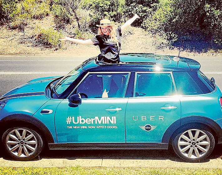 Mini controversy: Uber launched its illegal uberX ridesharing service on the Mornington Peninsula in December last year. Picture: Instagram