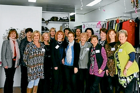 Gathered for a cause: Volunteers and supporters at the opening of the new Clothes4U shop at Rosebud. Picture: Margaret Harrison, BusinessTimes