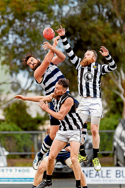 Wings clipped: Pearcedale came from behind to get a win over Crib Point. Picture: Andrew Hurst