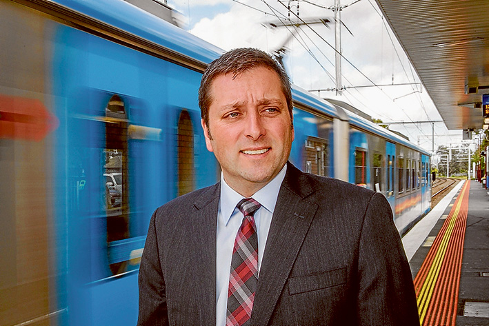 Safety first: Opposition leader Matthew Guy says the state government should ensure protective services officers patrol stations during a trial of weekend train services. Picture: Gary Sissons