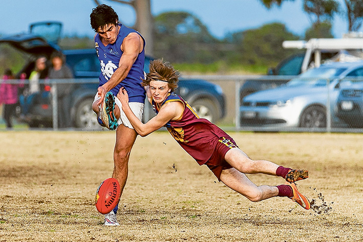 Giving the Yabbies the Blues: Hastings handed out a 177 point thrashing to Tyabb on Saturday. Picture: Andrew Hurst