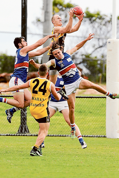 Doggies muzzled: Mornington faced a 89 belting by Frankston YCW. They will now face Edithvale-Aspendale next week. Picture: Gary Bradshaw