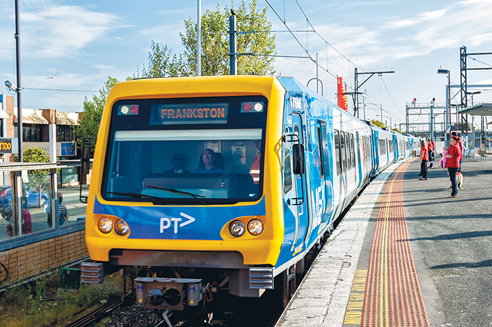 Need for speed: New faster X'Trapolis trains on the Frankston line mean boom gates at level crossings will be down for longer for safety reasons. Picture: Yanni