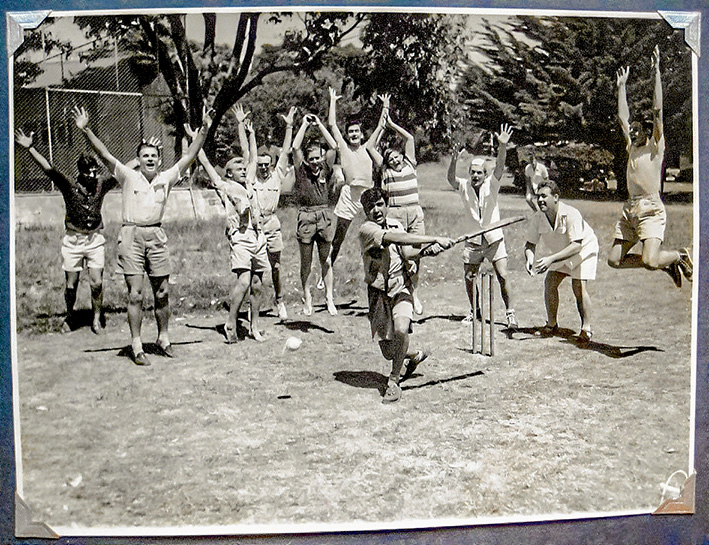 Holiday test: Camp Manyung cricket game in 1951.