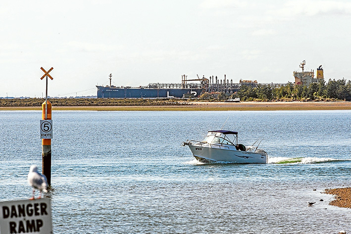 Port in waiting: The number of ships coming int the Port of Hastings hovers around 50 a year and is likely to stay that way unless it is developed as the state's next container port. Picture: Gary Sisons