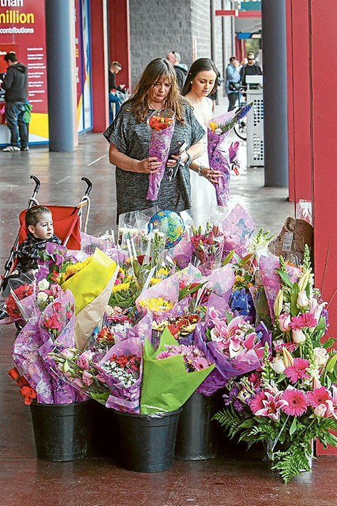 Carrum Downs Update - Monkey Bike Incident. Photo: A floral tribute which the Carrum Downs Community have been laying flowers where the incident happened.