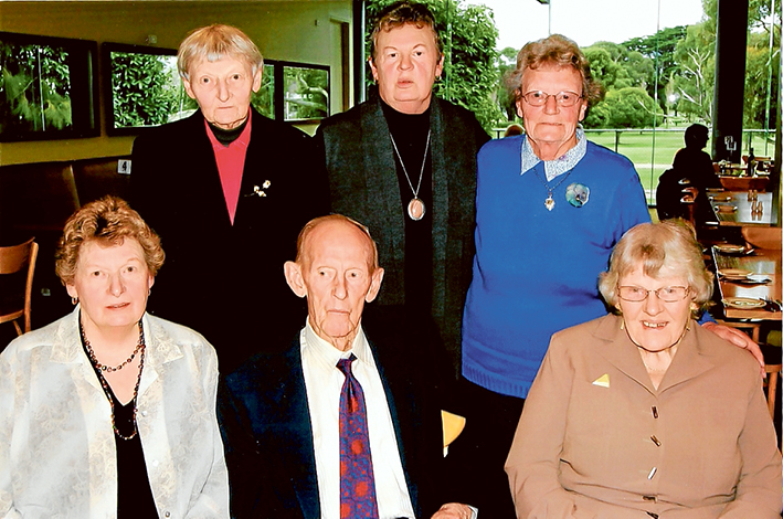 Big day planned: Crichton family members Daphne, Gwenda, Bruce, Elvie, Faye and Betty are getting ready for next weekend's David Maynard Crichton get together.