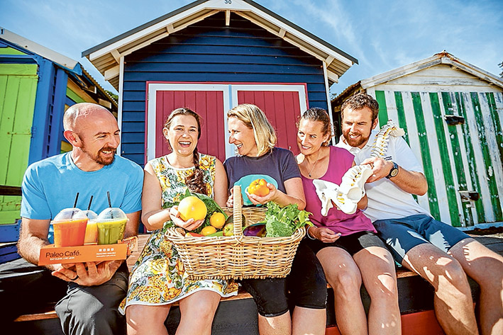 Health and happiness: Organisers of the Peninsula Health and Sustainability Expo look to mindfulness for well grounded living. From left, Andrew Birks, Jo Schutt, Fiona Redding, Eryka Rhodes and Adam Sherriff. Picture: Yanni