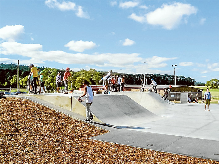 Access at last: A new path down steep Wooralla Drive will link Mt Eliza township with the skate park and other sports and recreation facilities at Emil Madsen Reserve. Picture supplied