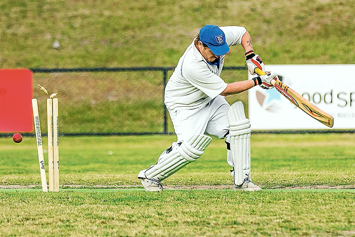 Stumps! Ballam Park took on Somerville Grade B1 in a Sub-District match. Picture: Andrew Hurst