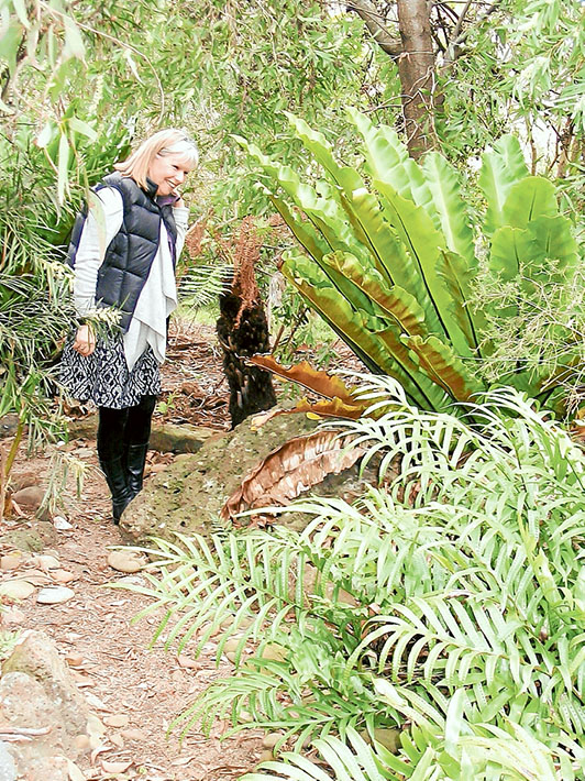 In bloom: Jeannette Morris oversees her garden at 4 Bellbrook Court, Mt Eliza, where visitors can enjoy Devonshire teas on their visit.