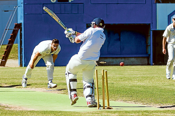 Bail-out: Balnarring were bowled out for 93 runs in their Sub-District game against Hastings. Picture: Andrew Hurst
