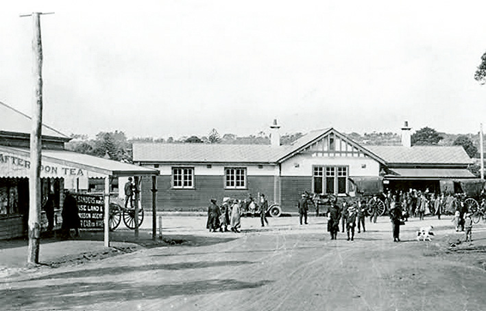 THE original Mornington train station and, right, post office (now a museum) are included in an audio tour of historic Mornington.