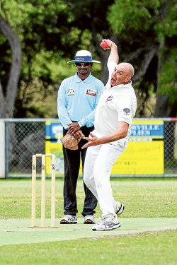 Bowling effort: Tyabb's bowling effort fell short, with the Stonecats getting the runs required for victory in sub-district. Picture: Andrew Hurst
