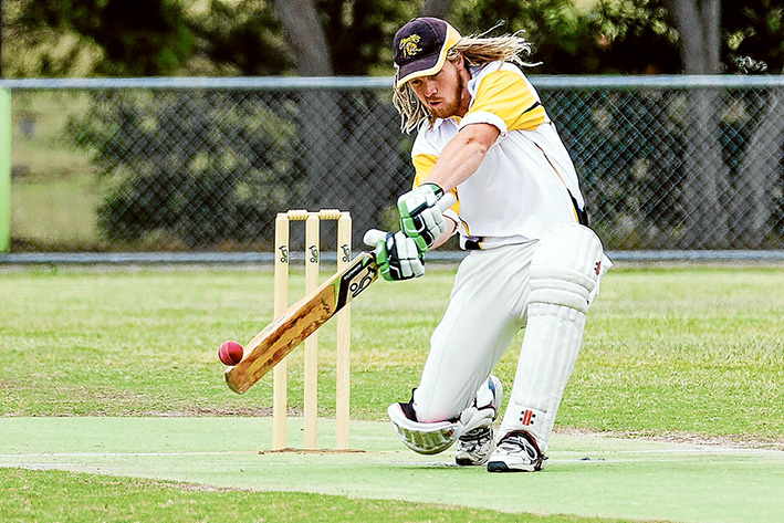 Heavy hitter: Jason Bedford top scored for the Stonecats with 71. Picture: Andrew Hurst