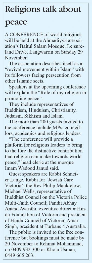 Religions talk