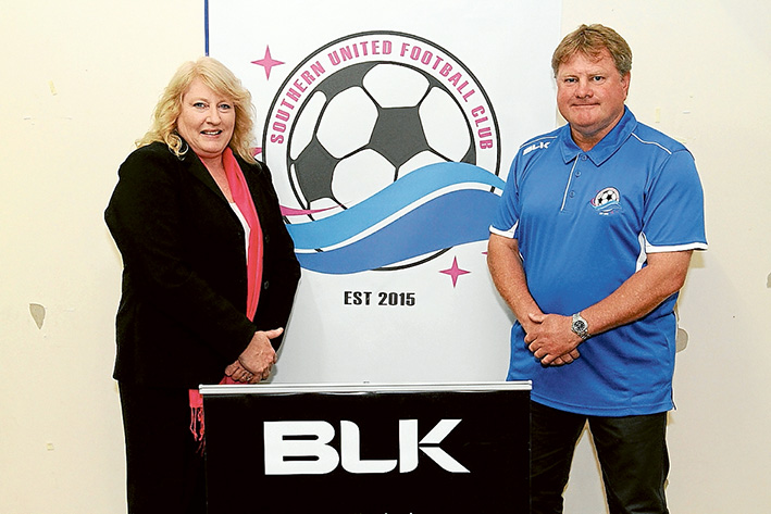 In charge: Southern United president Theresa Deas and senior coach Stuart Munro. Picture: Darryl Kennedy