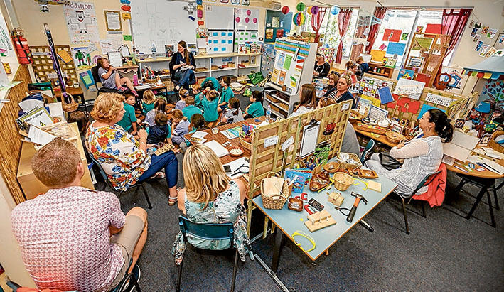 Class time: Teachers from Australia and New Zealand were at Wallaroo Primary, Hastings, to find out more about the innovative Walker Learning Approach to education. Picture: Yanni